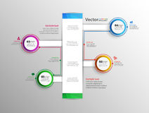 Progettazione infographic astratta Immagini Stock