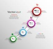 Progettazione infographic astratta Fotografia Stock Libera da Diritti