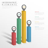 Progettazione infographic astratta del modello illustrazione di stock