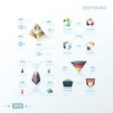 progettazione infographic astratta di vettori 3D Fotografie Stock