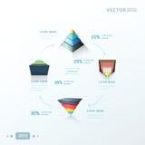 Progettazione infographic della piramide, progettazione di tiraggio della freccia Fotografia Stock Libera da Diritti