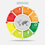 Progettazione infographic di vettore di Businees, modelli, elemento, cronologie Disposizione e processo del lavoro al presente di illustrazione vettoriale
