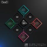 Progettazione infographic di vettore con i rombi variopinti Fotografia Stock Libera da Diritti