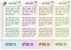 Progettazione infographic di vettore con quattro punti Immagine Stock Libera da Diritti