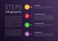 Progettazione infographic modificata facile di punti immagini stock