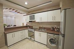 Progettazione interna della decorazione della cucina in appartamento della casa di manifestazione Immagine Stock Libera da Diritti