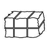 Progettazione isolata del blocchetto del fieno Fotografie Stock Libere da Diritti