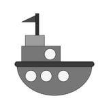 Progettazione isolata del giocattolo della nave Fotografia Stock Libera da Diritti