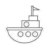 Progettazione isolata del giocattolo della nave Fotografie Stock