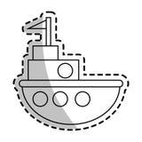 Progettazione isolata del giocattolo della nave Immagine Stock Libera da Diritti