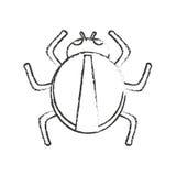 Progettazione isolata dell'insetto illustrazione vettoriale