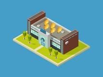 Progettazione isometrica di vettore del centro commerciale Centro commerciale illustrazione vettoriale