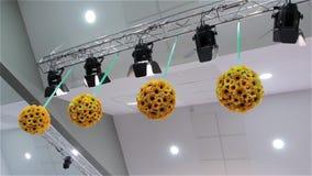 Progettazione leggera dei fiori dell'attrezzatura stock footage
