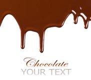 Progettazione liquida del confine del cioccolato fotografie stock