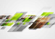 Progettazione luminosa dell'estratto di vettore di ciao-tecnologia Immagine Stock