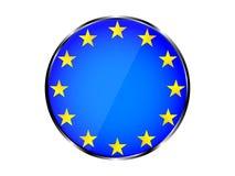 Progettazione magnifica di un'icona rotonda nel concetto dell'Unione Europea con un colpo del metallo Fotografia Stock