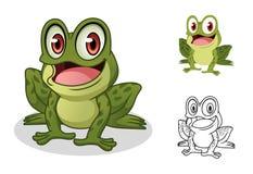 Rana del personaggio dei cartoni animati illustrazioni vettoriali