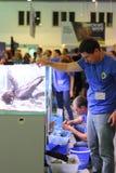 Progettazione matrice dell'acquario della classe La mostra della cucitura moderna di Aqua Terra di terrario e dell'acquario fotografia stock