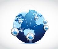 Progettazione medica dell'illustrazione del globo della rete Fotografia Stock