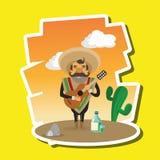 Progettazione messicana della cultura, illustrazione di vettore Icone del Messico Fotografia Stock Libera da Diritti