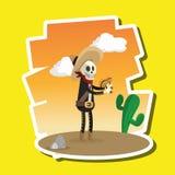 Progettazione messicana della cultura, illustrazione di vettore Icone del Messico Immagine Stock
