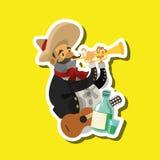 Progettazione messicana della cultura, illustrazione di vettore Icone del Messico Immagine Stock Libera da Diritti