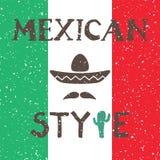 Progettazione messicana etnica del fondo nello stile indigeno Illustrazione Vettoriale