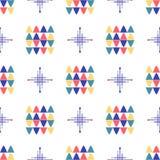 Progettazione minima del tessuto senza cuciture geometrico del modello royalty illustrazione gratis