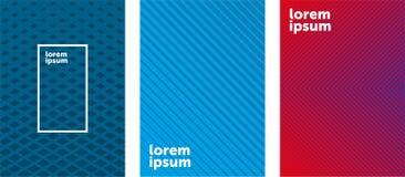 Progettazione minima delle coperture Pendenze di semitono variopinte Modelli geometrici futuri EPS10 royalty illustrazione gratis