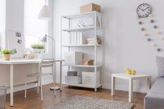 Progettazione minimalista bianca Fotografia Stock