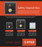 Progettazione minimalista piana di affari del modello sicuro Fotografia Stock Libera da Diritti