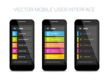 Progettazione mobile dell'interfaccia utente di vettore fotografia stock
