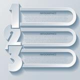 Progettazione moderna astratta di infographics con i numeri Fotografia Stock