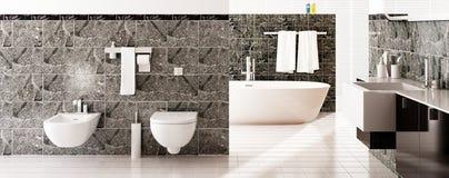Progettazione moderna del bagno & x28; panoramic& x29; royalty illustrazione gratis