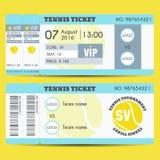 Progettazione moderna del biglietto di tennis Fotografie Stock