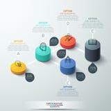 Progettazione moderna del cilindro del contenitore di modello di Infographic royalty illustrazione gratis