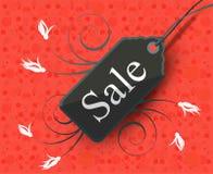 Progettazione moderna dell'etichetta di vendita di stile Fotografie Stock
