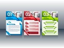 Progettazione moderna dell'opuscolo, modelli della disposizione dell'opuscolo dell'aletta di filatoio Illustrazione di vettore Fotografia Stock Libera da Diritti