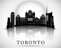 Progettazione moderna dell'orizzonte della città di Toronto canada Immagine Stock