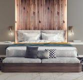 Progettazione moderna della camera da letto Immagini Stock