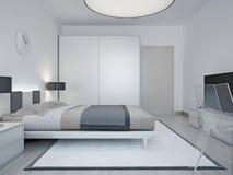 Progettazione moderna della camera di albergo Fotografia Stock Libera da Diritti