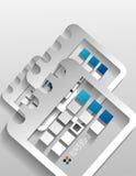 Progettazione moderna della carta del calendario di vettore Immagine Stock Libera da Diritti