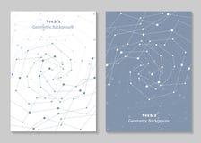 Progettazione moderna della copertura dell'opuscolo Fotografia Stock Libera da Diritti