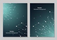 Progettazione moderna della copertura dell'opuscolo Fotografia Stock