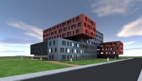 Progettazione moderna della costruzione Fotografia Stock Libera da Diritti