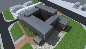 Progettazione moderna della costruzione Fotografie Stock Libere da Diritti