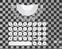 Progettazione moderna della tastiera Retro concetto alla moda illustrazione vettoriale