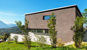 Progettazione moderna di architettura, casa Fotografie Stock
