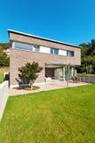 Progettazione moderna di architettura, casa Immagini Stock