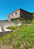 Progettazione moderna di architettura, casa Immagine Stock Libera da Diritti